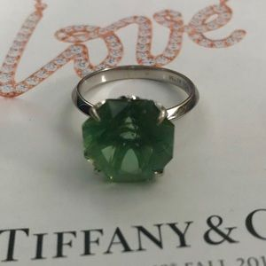 Tiffany & Co 18k WG Presiolite Sparklers Ring